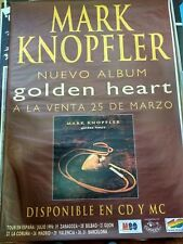 Mark Knopfler GOLDEN HEART SPANISH BIG PROMO POSTER 100cm X 140cm RARO