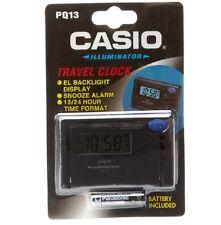 Casio Clock * PQ13-1HK Digital Travel Clock Black Ivanandsophia COD PayPal