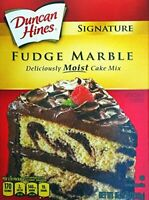 Ducan Hines Signature Fudge Marble Cake Mix (Pack of 3) 15.25 oz Boxes