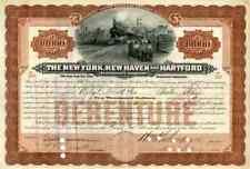 1908 New York  New Haven & Hartford RR Bond Certificate