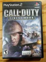 Call of Duty Finest Hour - PlayStation 2 PS2 Complete VG