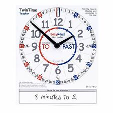EasyRead TwinTime Clock Card for Teacher and Parent. Double sided. ERTC-WO