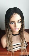 Handmade braided wigs, twist braids. Box braids.