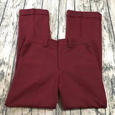 "Levis Mens Vtg Panatela Disco 60s Pants Size 30"" x 31"" Maroon Red Rolled Hem"