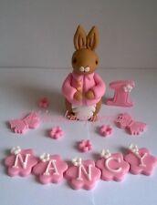 Peter rabbit cotton tail girl handmade edible cake topper decoration