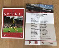 Arsenal v Sunderland Premier League 2014/15 Programme Mint with Team Sheet.