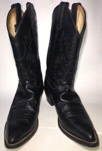 Justin Classic Black London Western Cowboy Boots 8B L4903