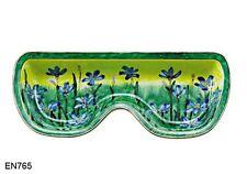 Kelvin Chen Enamel Eyeglasses Hand painted Copper Tray Holder- Blue Eyed Grass