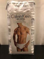 4-Pk Calvin Klein Classic Cotton Briefs Brief Underwear U4000 - Men's L - White