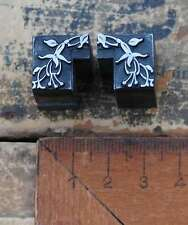 Vignetten Jugendstil Bleisatz Ornamente Fuchsie Rahmen Ecke letterpress AN11