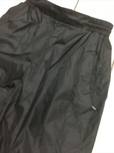 Sierra Designs Women's XS Black Warm Up Rain Pants Water Resistant Zip Pockets