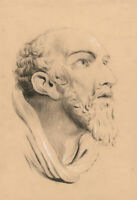 20th Century Graphite Drawing - Classical Head Study of a Man