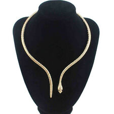 Mystic Fashion Womnes Mystic Retro Snake Necklace Collar White Gold Filled New