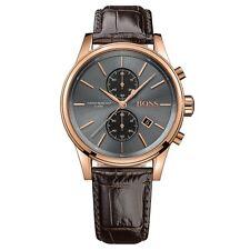 Hugo Boss Mens Chronograph Brown Leather Watch 1513281