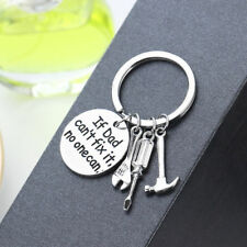 If Dad Can't Fix It No One Can Keyring Keychain Charm Hand Tools Pendant New