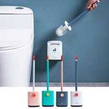 Toilet Long Handle Brush Holder Base Silicone Bathroom Washroom Cleaning Tool