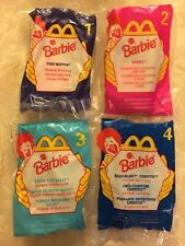 McDonald's Happy Meal Toy 1998 Barbie Complete Set Of 4 Skipper Kelly Lot