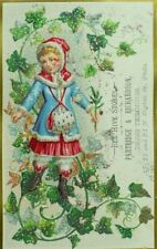 Partridge & Richardson Bee Hive Stores Christmas Winter Girl Snow Ivy P83