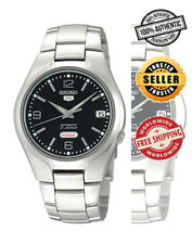 Seiko 5 Automatic SNK623 SNK623K1 Men Day Date Black Dial Stainless Steel Watch