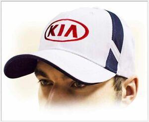KIA unisex Baseball Cap Hat. 100% cotton. White color. Adjustable size!!!
