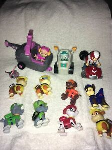"""Paw Patrol 2"""" Figurines Action Figures & Vehicles Dog Toy Set Lot of 14"""