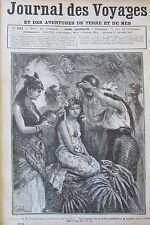 JOURNAL DES VOYAGES N° 531 de 1887 MARIAGE INDIEN PANAMA / AMSTERDAM LE MARCHE