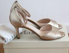 Max Mara  Sandalen Pumps aus Leder Gold Gr. 40 Hochzeit