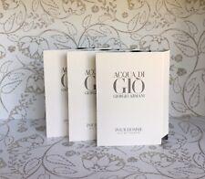3x Giorgio Armani Acqua Di Gio Pour Homme Eau De Toilette Sample 1.2ml