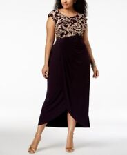 New Connected Soutache Draped Gown Dress Women's Plus Size 18W NWT