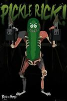 RICK AND MORTY ~ PICKLE RICK WITH GUNS ~ 24x36 CARTOON POSTER NEW/ROLLED!