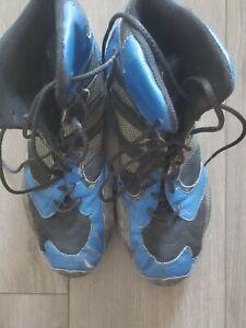 Adidas Wrestling Shoes Blue/Black Size 10 Well Jock Worn