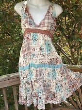 New_Lovely_Boho_Beutiful Print Empire Waist Cotton Dress_sizes S, M, L