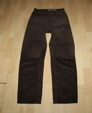 Brown Suede STREET ONE Zip Tapered Biker Jeans Trousers Pants Size 10 / 38 L 29