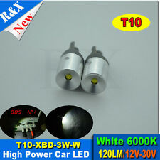 2XT10 501 W5W 3W Cree XBD LED High Power Car Reverse Back Light Bulb Super White