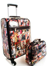 MICHELLE OBAMA Travel Luggage 2 IN 1 Locking Rolling Carry On Suitcase Mix Color