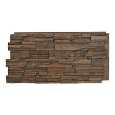 #137 Multi Color Faux Stacked Stone Wall Panel made in USA Polyurethane