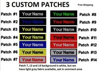 """""""LOVE IT or IT'S FREE"""", 3-PACK CUSTOM EMBROIDERED NAME TAG 3X1, FREE SHIP"""
