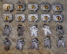 Antique Yale Key Locks Cabinet Door Drawers Vintage Woodworking Hardware Latches
