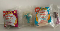 MC DONALD'S Disney's Hercules Happy Meal toys #6 & 7 Megara Pegasus & Panic Fate