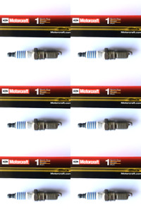 New SET OF 6 Motorcraft Finewire Platinum Spark Plugs