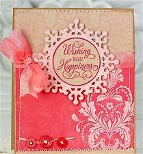 NEW ✿ Ornate Decorative Crystal Snowflake Die ✿ For Cuttlebug Sizzix ✿