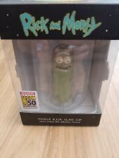 Rick And Morty Pickle Rick Glass Cup Sdcc Exclusive 2019