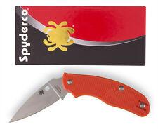 Spyderco C179POR Pl Edge Byrd Knife Spy-DK Ltwt Orange Non-Locking Notch Joint