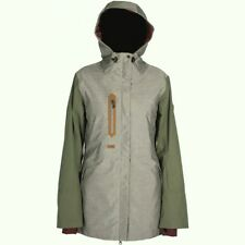RIDE SNOW Women's RAVENNA Snow Shell Jacket - GreyNep/Olive - Large  - NWT