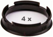 4 pièces Bagues de centrage Plastique 67.1 mm à 56.6 mm Bleu foncé