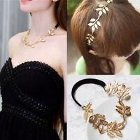 Elegant  Girls Hollow Woman Golden Leaf Hair Band Headwear Hair Accessories