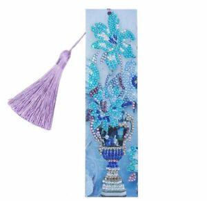AU Seller - 5D Crystal Diamond Painting Blue Vase Kit - 21cms x 6cms