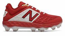 New Balance Low-Cut frescas Botín de béisbol TPU 3000v4 De Espuma Para hombre Zapatos Rojo Con