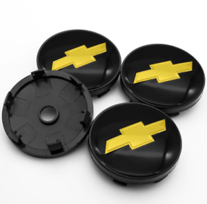 *NEW* 4pcs 60mm for Chevrolet Black Wheel Center Caps Rim Caps Hub Caps Badges