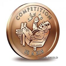 2014 Silver Shield Competition Is A Sin 1 oz .999 Fine Copper | Tube (20 Coins)